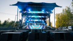 The recent Road Rage Drive-In Concert at Portland International Raceway was heard through a Trinity robotic line source system from PK Sound.