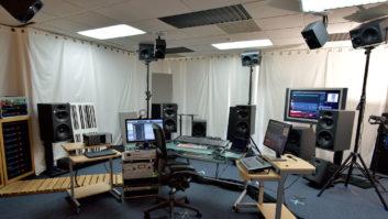 Herbert Waltl's immersive mix room at mediaHyperium.