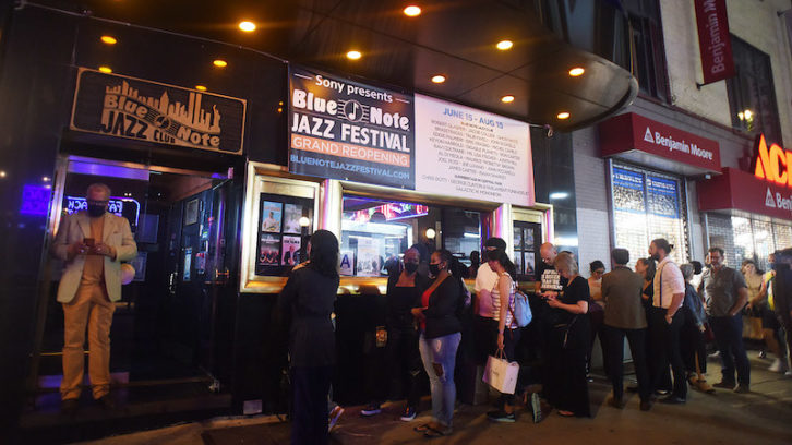 Re-opening night at the Blue Note. PHOTO: Nagamitsu Endo