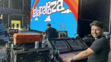 The DiGiCo SD12 monitor station on the Bud Light Stage. PHOTO: Matt Larsen